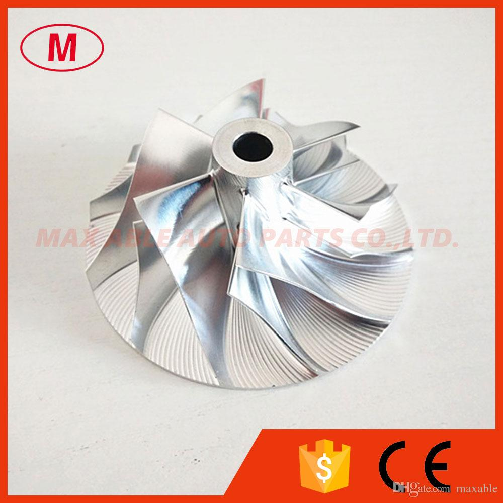 CT26 turbocompresor Billet compresor rueda 17291-17010 42.12 / 64.89mm 6 + 6 cuchillas para TOYOTA 17201-17010