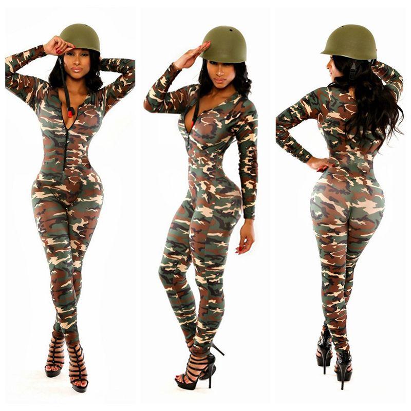 Compre Al Por Mayor Sexy Mujeres Adultas Del Uniforme Del Ejército Del  Traje Sexy Party Disfraces Soldado Mujeres Vestido De Camuflaje Color De  Halloween ... fb913278000ca