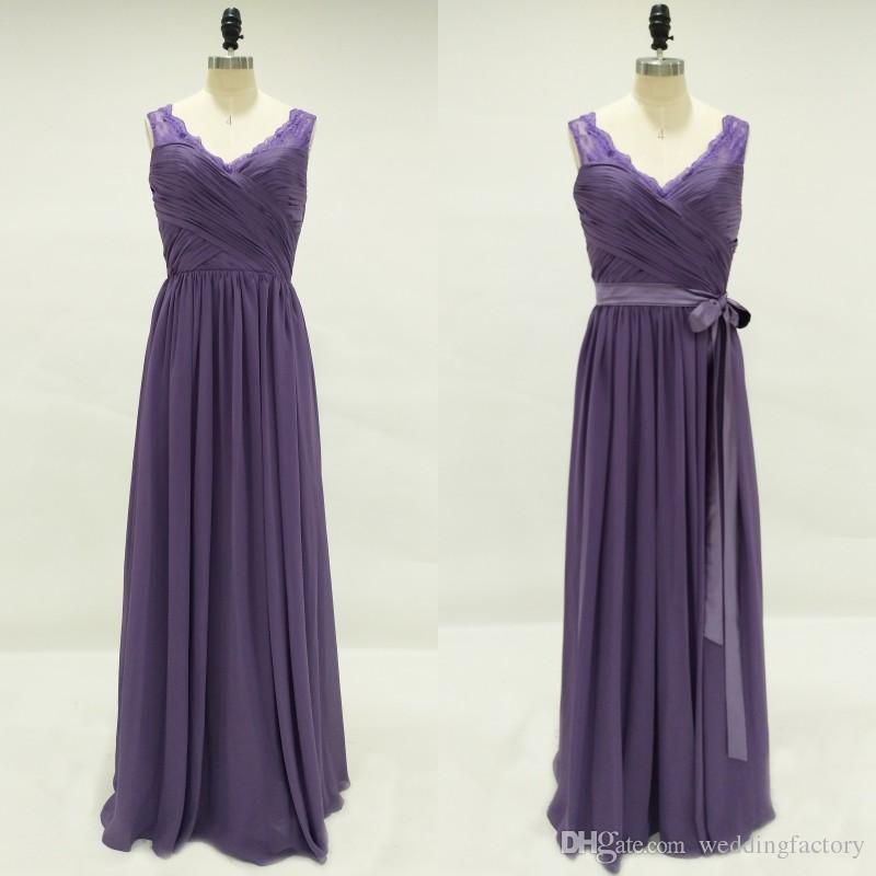 Vistoso Profunda Vestido De Dama De Color Púrpura Viñeta - Ideas de ...