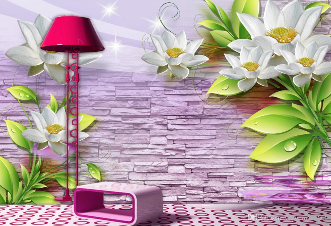 Embossed flowers 3D Wallpaper Walls For Living Room Sofa Bedroom Wallpaper Murals Trend Background Wall