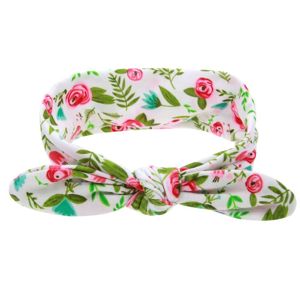 Bohemian Headband Cotton Girl Baby doughnut Bowknot Flower Turban Twist Head Wrap Twisted Knot Soft Hair Band Kids Headbands Bandanas