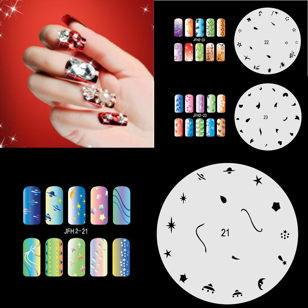 20psc2017 New Fashion Airbrush Nail Stencils Set 21 40 Tools Diy