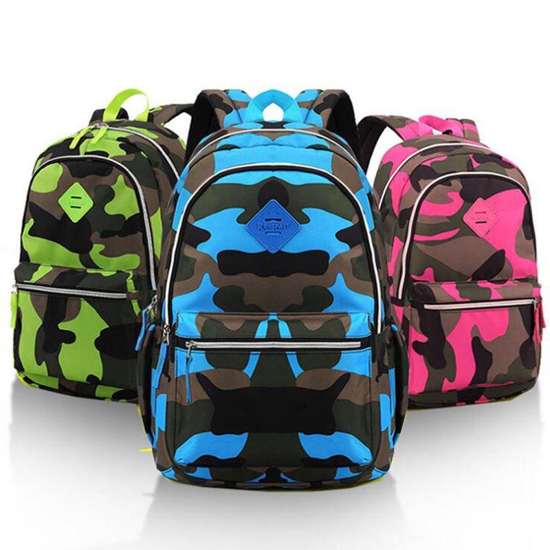 2 Size Children Camouflage Backpack Nylon Polyester Blended Kids School  Bags Boys Girls Schoolbag Backpack Kids Bag One Strap Backpacks For School  Backpack ... be9f399ff901b
