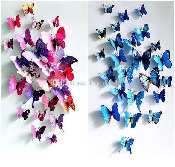 Cinderella butterfly 3d butterfly decoration wall stickers 3d butterflies 3d butterfly pvc removable wall stickers butterflys in stock
