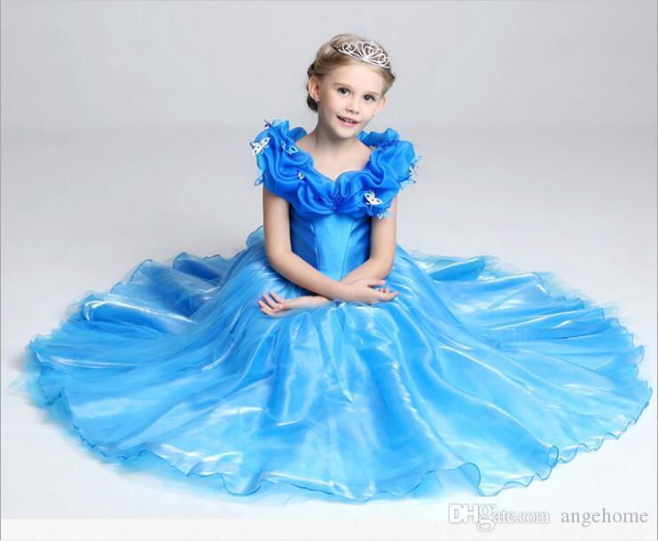 9d6858e84 2019 2016 Summer Baby Girl Child Kids Party Wedding Princess Cosplay ...