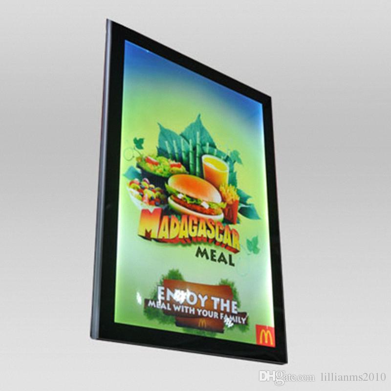 Restaurant Menu Poster Frame Lightbox Aluminum Frame Magnetic LED ...