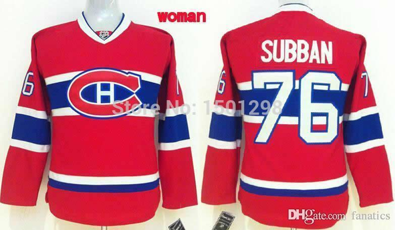 2019 2016 Women S  76 P.K. Subban Jersey Montreal Canadiens Vintage Ice Hockey  Jerseys Womens Ladies Home Red PK Subban Stitched Jerseys From Fanatics b91b8af93