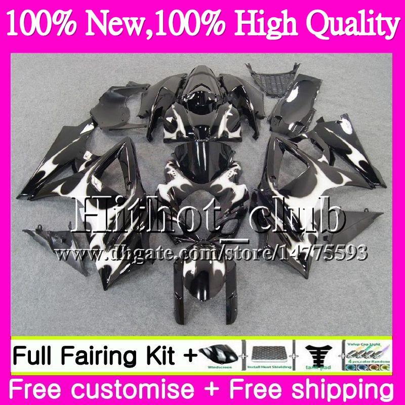 Bodys For SUZUKI Silver flames GSXR-1000 K7 GSX-R1000 GSXR 1000 07 08 31HT18 GSXR1000 07 08 Bodywork GSX R1000 2007 2008 Motorcycle Fairing