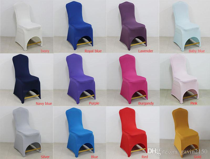 Wholesale Universal Colorful Spandex/Polyester Wedding Chair Cover for Banquet Chair Hotel Decoration Party Supplies