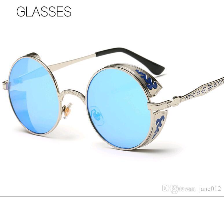 Vintage Retro Round Prince Glasses Sunglasses Carving Pattern ...