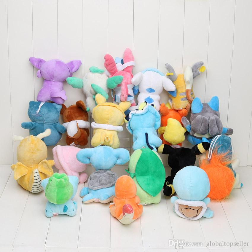 Anime Eevee 20 Different style pocket Plush Character Soft Toy Stuffed Animal Collectible Doll New in Bag