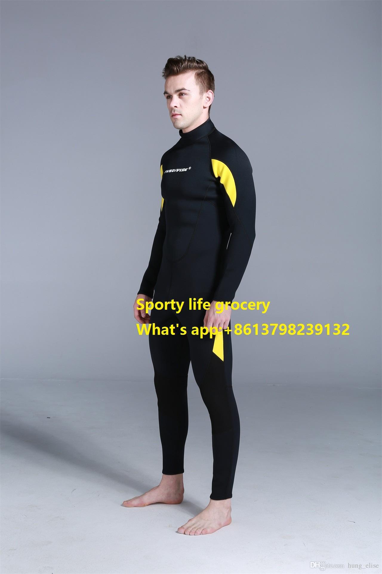 Nouveau design 3 mm combinaison de plongée à manches longues pour une pièce de surf avec tuba hiver hommes hommes de combinaison pour l'hiver