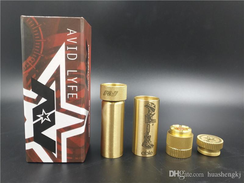 Neueste AV fähige XL Mod Mech Mod Messing Fit 18650 Batterie Mechanical Vape 510 Thread RDAs Hoher Qualität Heißer Verkauf DHL frei