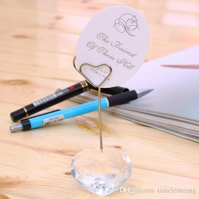 Heart ball crystal place card holder Wedding favor and gift for guests Wedding table name card holder seat clamp Wedding decoration