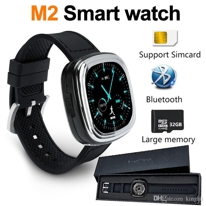 8f3789c3c3b9 Relojes Mujer Baratos M2 Reloj Inteligente Para Ios Android Impermeable  Micro Usb Cámara Remota 3 Ejes Teléfono Móvil Relojes Inteligentes Reloj  Táctil ...