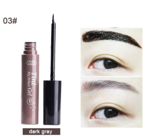 Étude de mode New House Teinte My Brows Gel 5g - Korea Costmetics Peel off type Enhancers pour sourcils de couleur 3 avec emballage de vente au détail