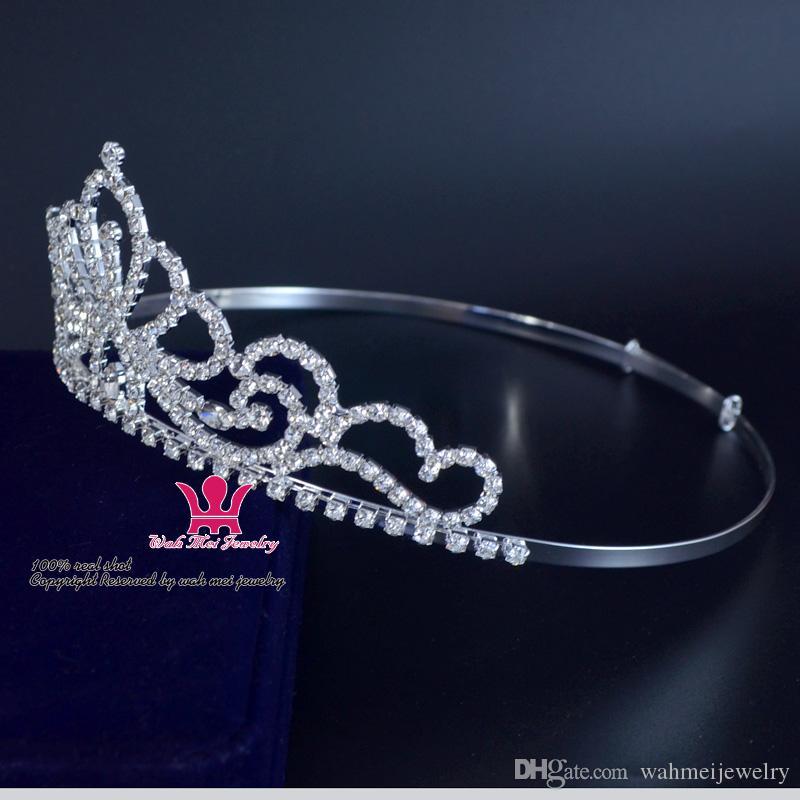 Korony Koronne Rhinestone Zestawy koronowe i na wesele Akcesoria do włosów Księżniczka Brida Beauty Korowód Królowa Krzyżowa Korona na wystawę lub imprezę 02238S