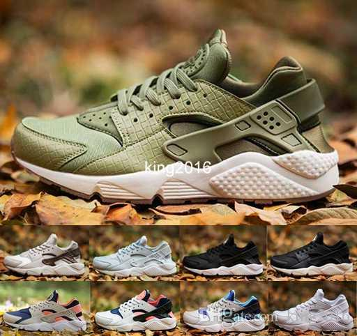 outlet store 73275 c6daa Compre 2017 Air Huarache I Running Shoes Para Mujeres Hombres, Hombres  Verde Rose Gold White Triple Negro Huaraches Sports Sneakers Huraches Shoe  36 46 A ...
