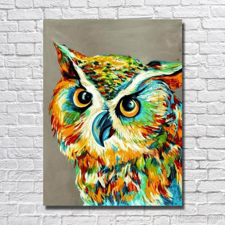 2017 Free Shipping2016 Hand Painted Abstract Bird Owl Oil Painting For Living  Room Decor Hand Made Canvas Art From Ouweili, $5.23 | Dhgate.Com Part 63