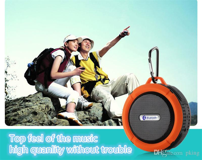 C6 Outdoor sport doccia portatile impermeabile senza fili Bluetooth Speaker ventosa vivavoce casella vocale MIC iPhone 6 iPad PC Pking