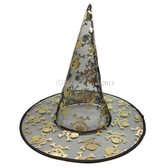 Low price Part parts Wholesale price Halloween witch's hat suit for Costume party and Costume props Colors mixed batch
