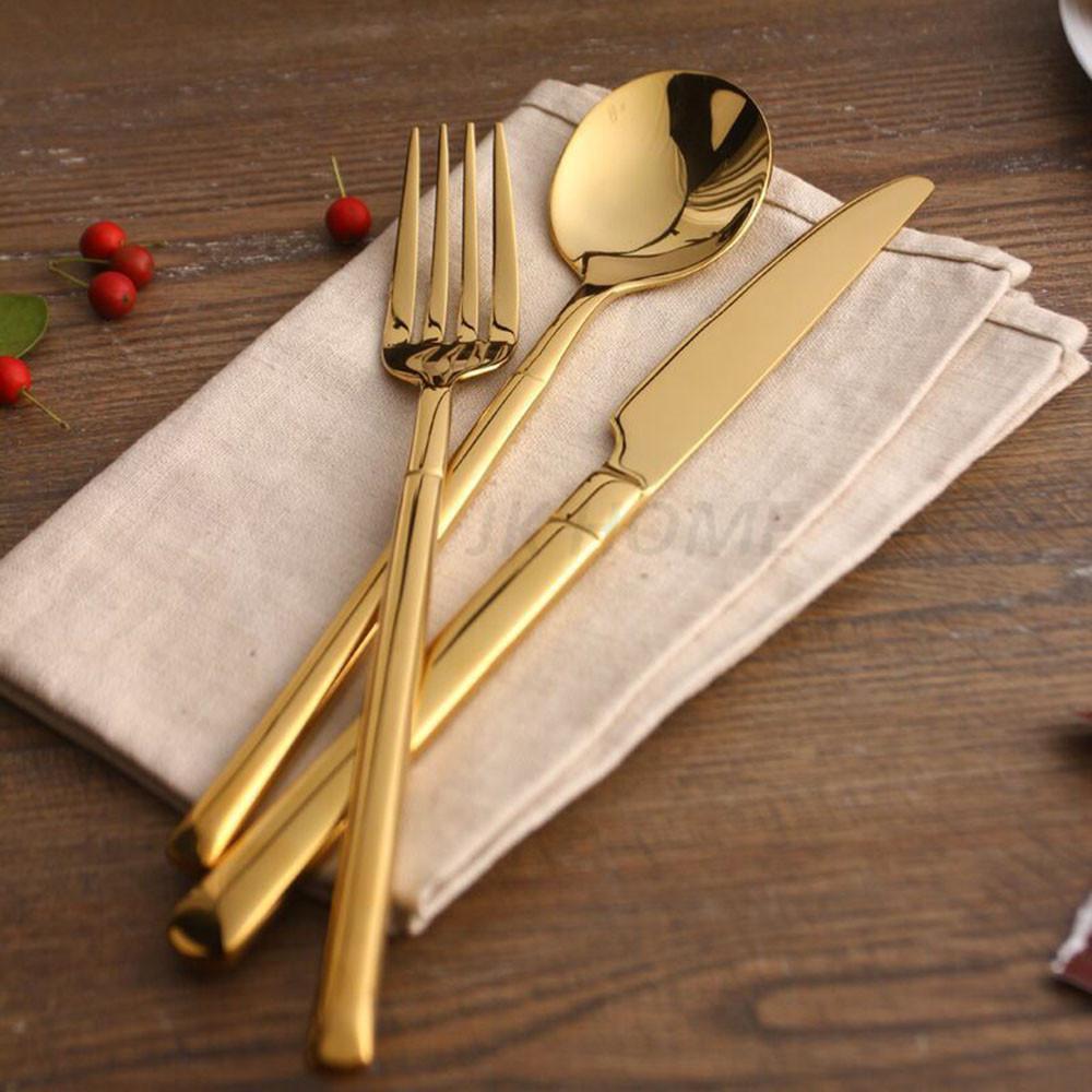 Jk Home 24k Gold Cutlery Stainless Steel Flatware Tableware Dinner ...