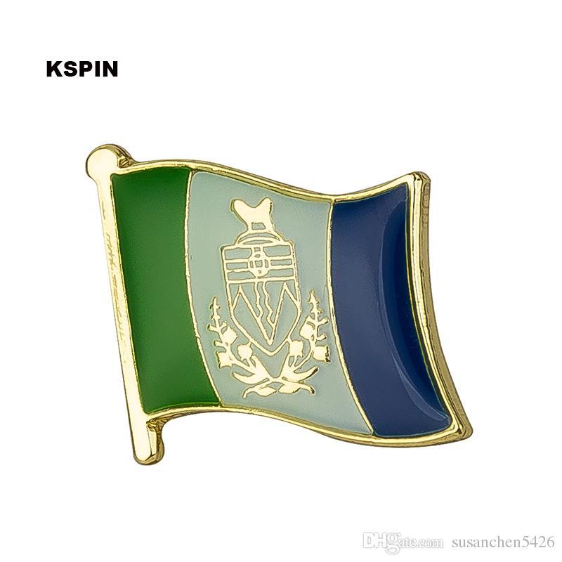 Spedizione gratuita YUKON Metal Flag Badge Flag Pin KS-0127