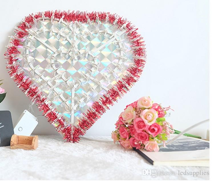 led가 손전등 문자열은 공작 사랑 웨딩 축제 장식 룸 모델링 카메라 조명 조명 점등