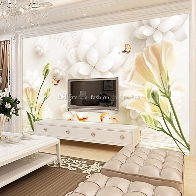 Elegant Lily Wall Mural Custom 3d Wallpaper For Walls Tulip Flowers Photo  Wallpaper Bedroom Living Room Coffee Shop Restaurant Wall Covering Good  Wallpapers ... Part 36