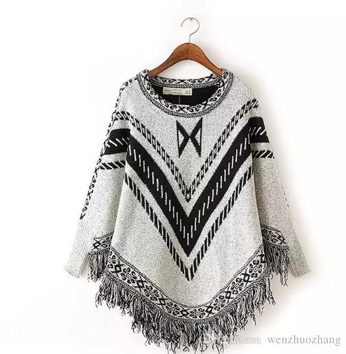 Весенний пакет новая женская одежда Европы и Соединенных Штатов любовь Су набор головы шаль вязаный мыс вязать плащ свитер