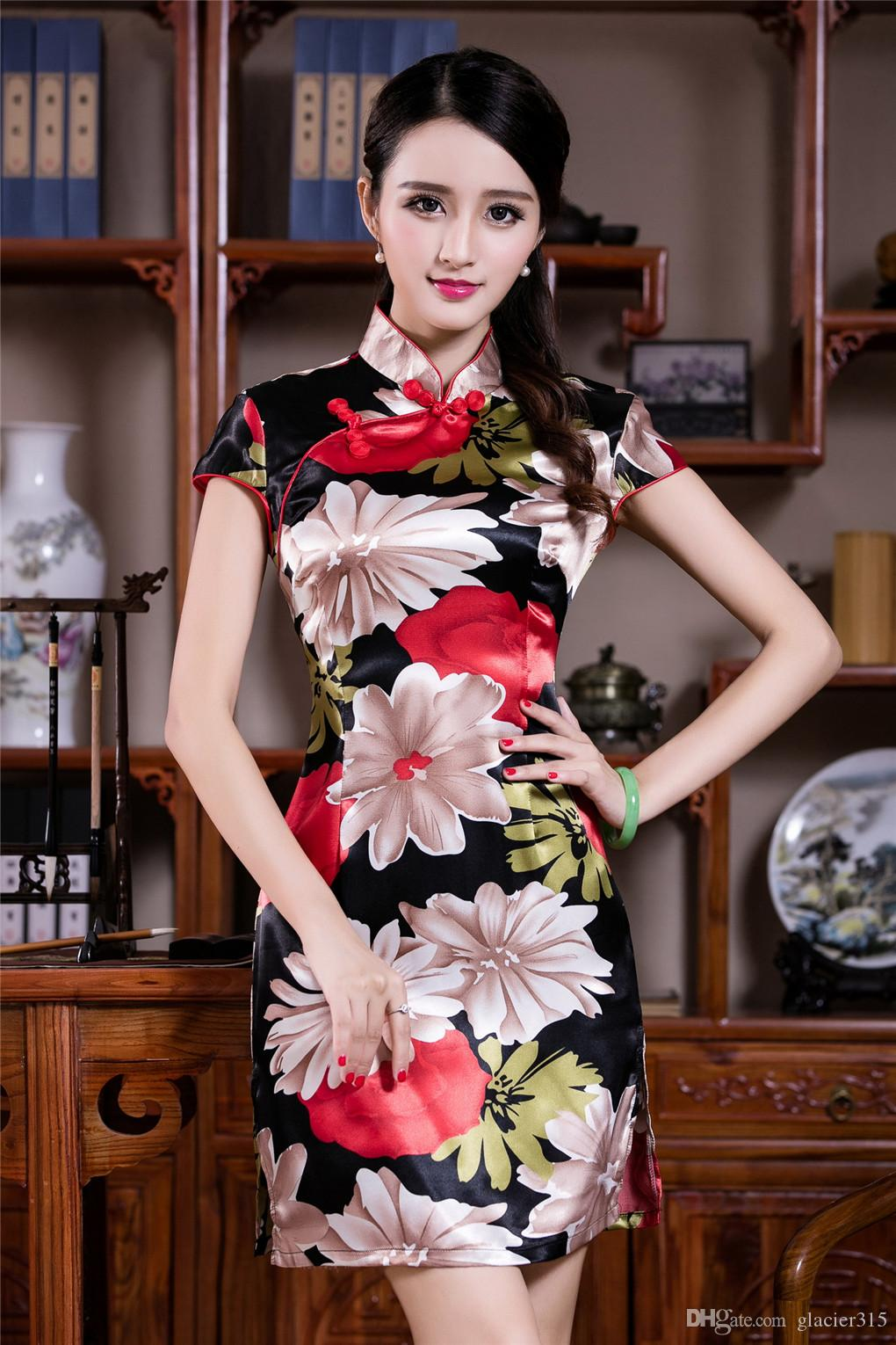 Shanghai histoire vintage pas cher robe traditionnelle qipao pour femme cheongsam style chinois robe Style vestimentaire Oriental chi pao