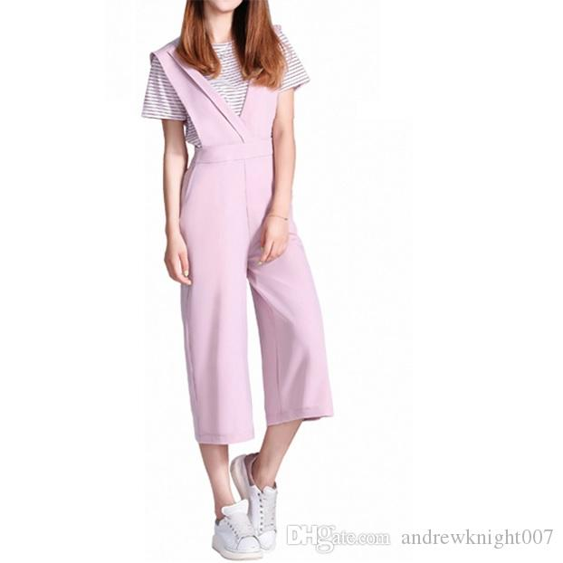 ab003d7c80b 2019 HQ Casual Women Girls Long Loose Jumpsuits Sleeveless Work Party Wear  Rompers Fashion Women Clothing Dropship From Andrewknight007