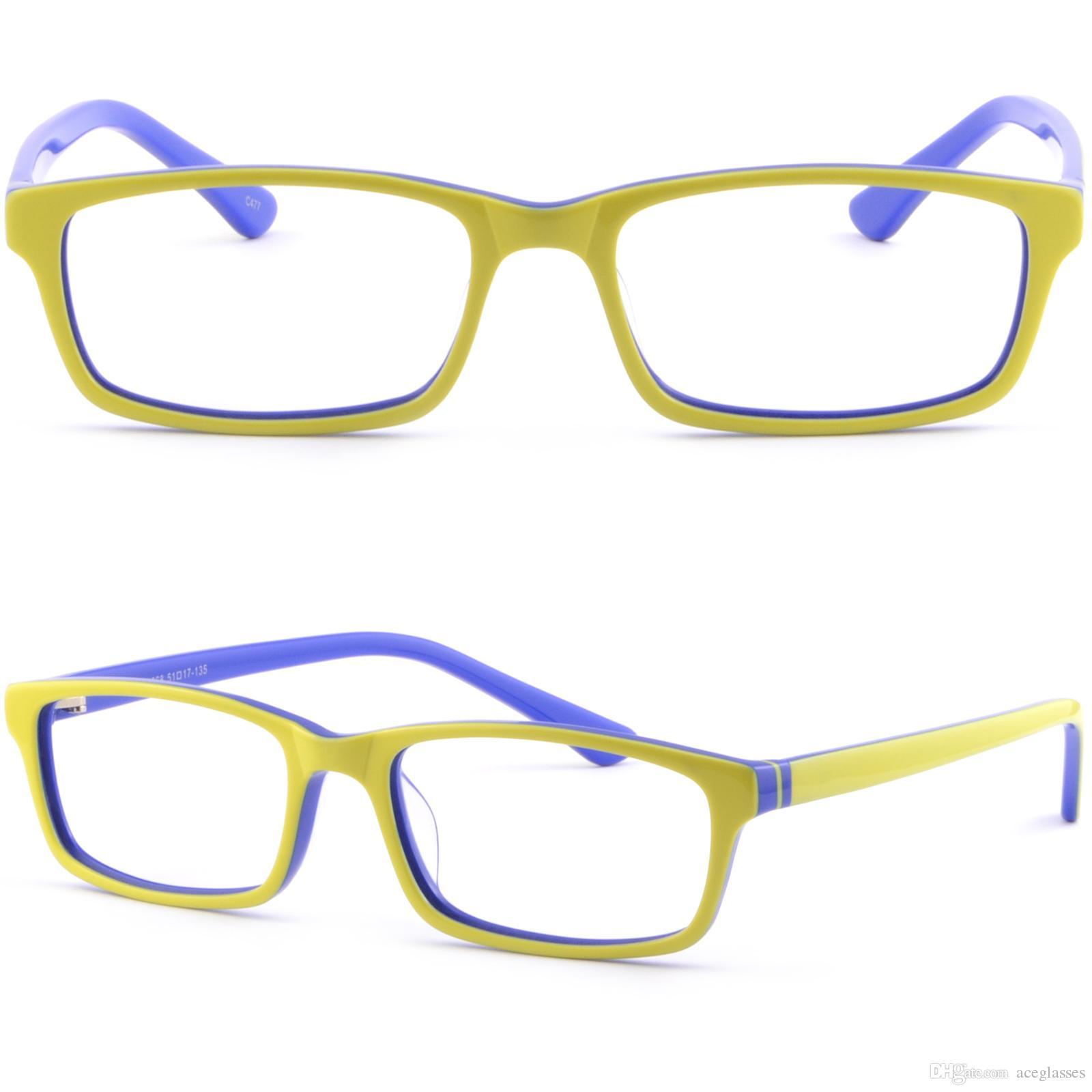 Light Plastic Acetate Frame Men Women Frames RX Prescription Glasses ...