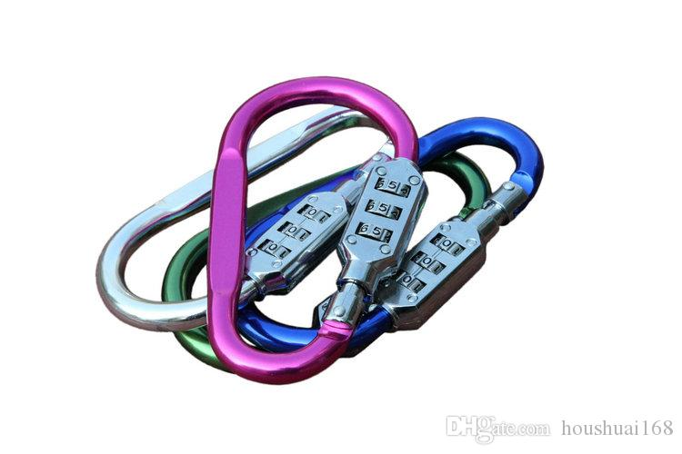 큰 그래픽 잠금 / 등산 carabiner 키 체인 유형 D 크리 에이 티브 잠금 유형 자물쇠 잠금 도매