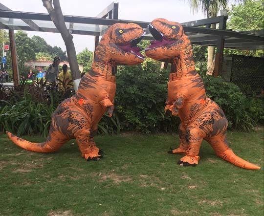 На открытом воздухе динозавр Т-Рекса носки представления Раздувной одевает вверх костюм костюма косплей смешной симуляции роскошный