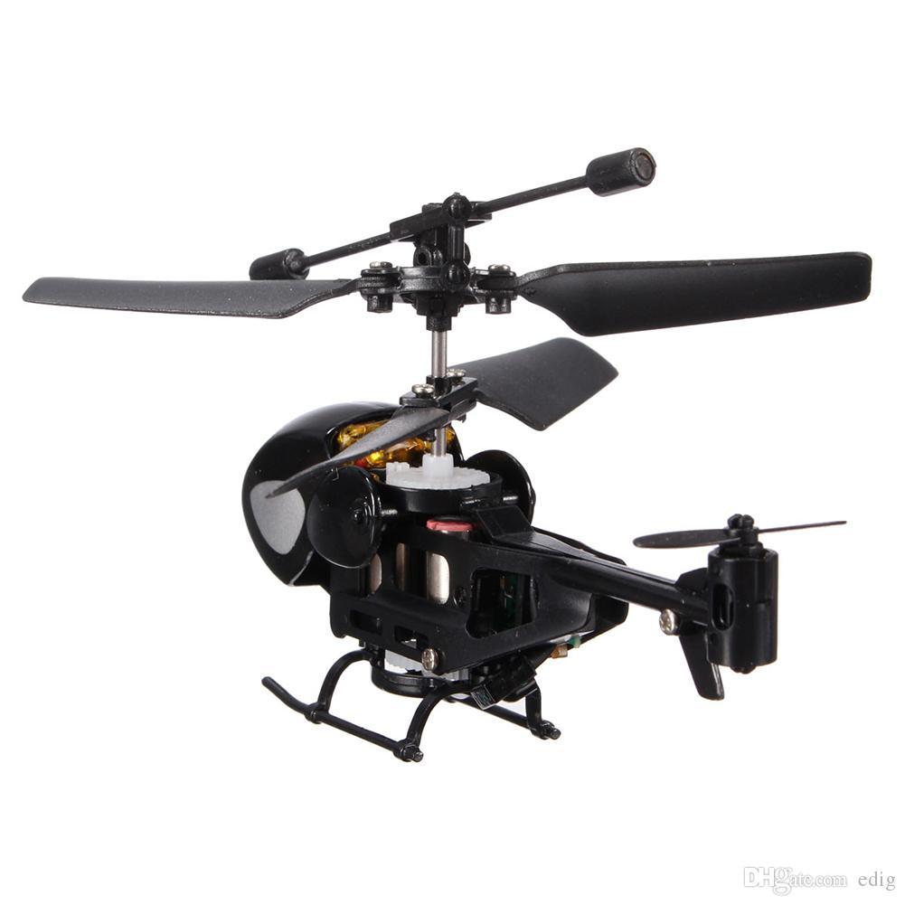 Mini Taşınabilir QS QS5013 2.5CH Mikro Uzaktan Kumanda Helikopter Verici uçan UFO Gyro Çocuk Çocuk Eğitim