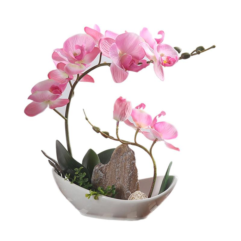 2017 Hot New Artificiale Bonsai Home Decor Simulazione Fiore Pianta Con Vaso di fiori in ceramica per soggiorno Decorazione del cortile