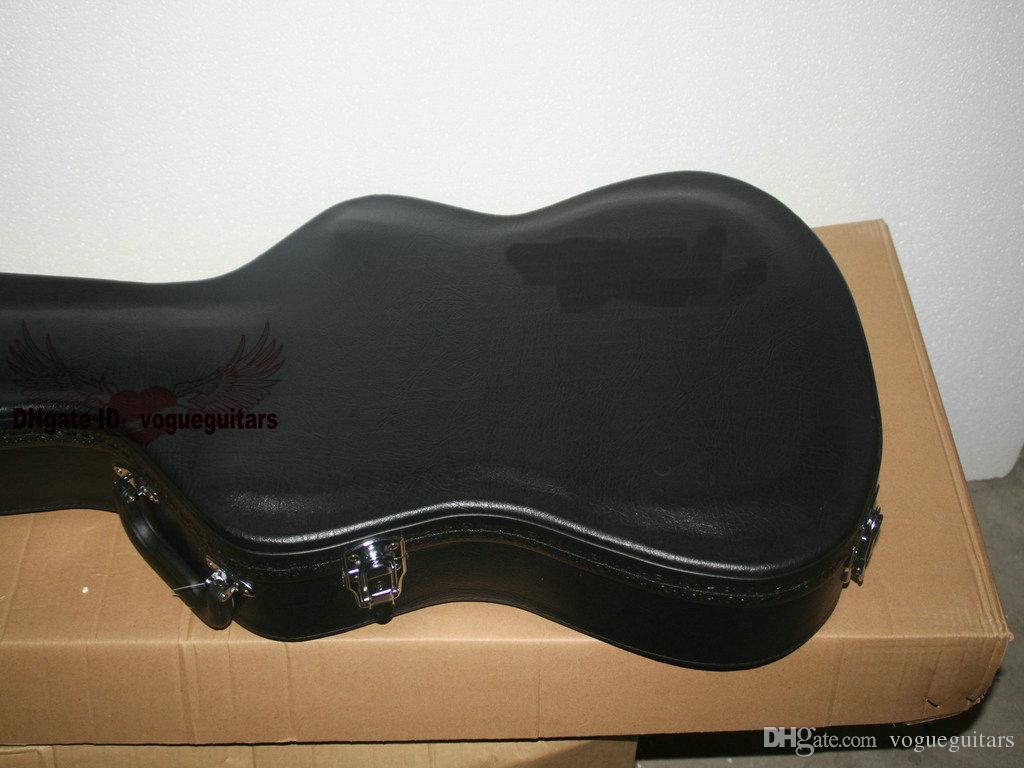 Оптовая торговля и розничная прибытия китайского производства High-End Black Electric Guitar Case Бесплатная доставка