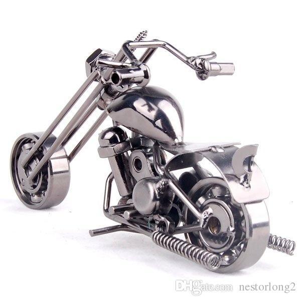2016 1 قطع جديد وصول الحديد دراجة نارية نموذج أزياء الفن ديكورات سطح المكتب ديكورات رائعة الحلي عيد الميلاد الديكور