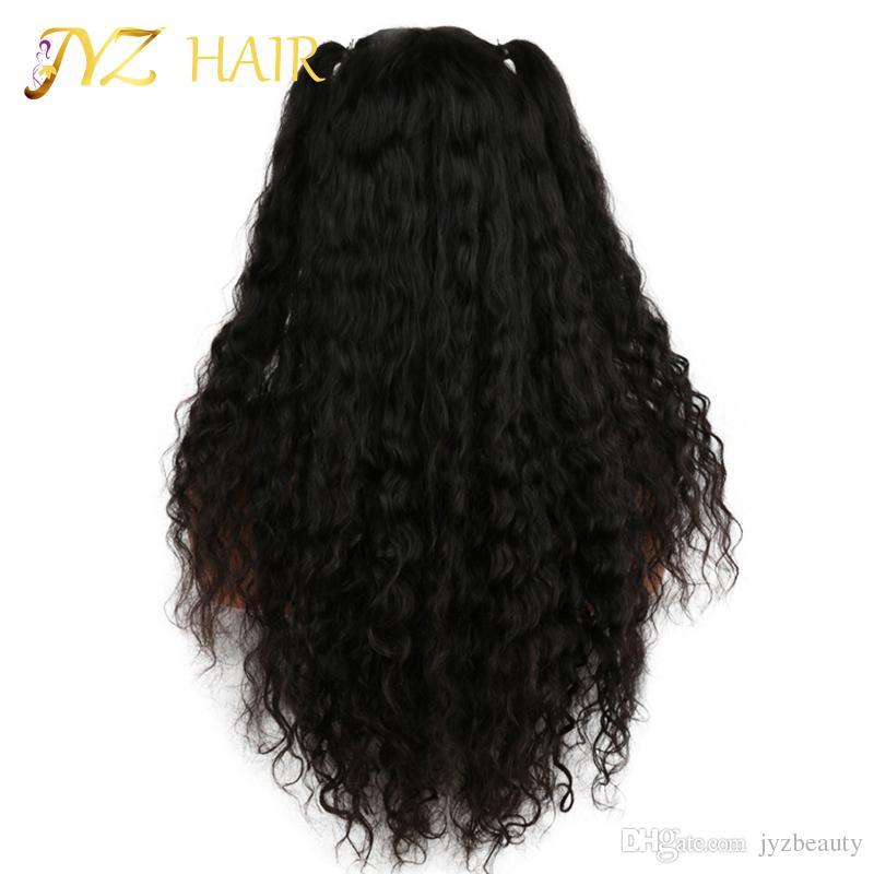 JYZ Glueless volle Spitze Perücke Braziliane Tiefwelle Full Spitze Menschenhaarperücken für Schwarze Frauen Beste Spitze Front Perücke mit Babyhaar