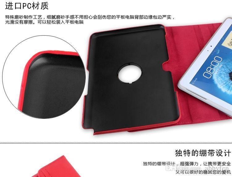 Coque PC iPad en cuir Flip pour Samsung Galaxy Tab 2 P5100 LITE7 T110 T310 T320 T700 T520 360 Rotation PU PU Smart Pliage Couverture Folio