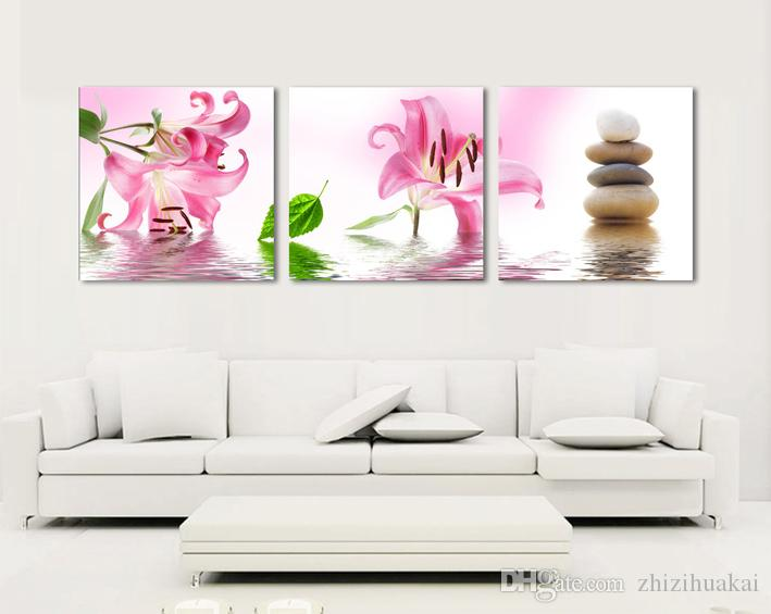 no frame art picture Home decoration on Canvas Prints Abstract flower woman tree Bamboo Red rose fish Lotus leaf