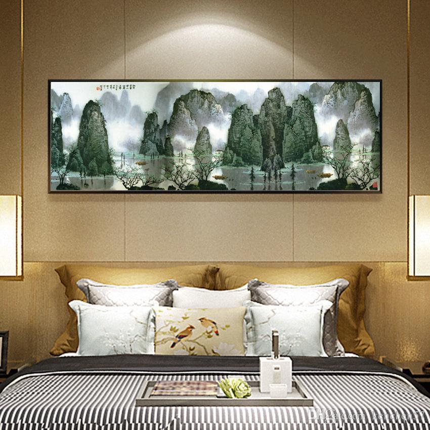 Encre de Chine Peinture HD Imprimé sur Toile Guilin Paysage Paysage Mur Art Photo Décor À La Maison Salon Peintures Sans Cadre