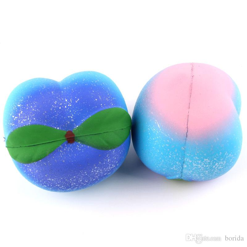 Squishy Squeeze Toys Kawaii Colorful Peach Squishy Slow Rising Doll Cream Scented Decompression Toys Christmas gift