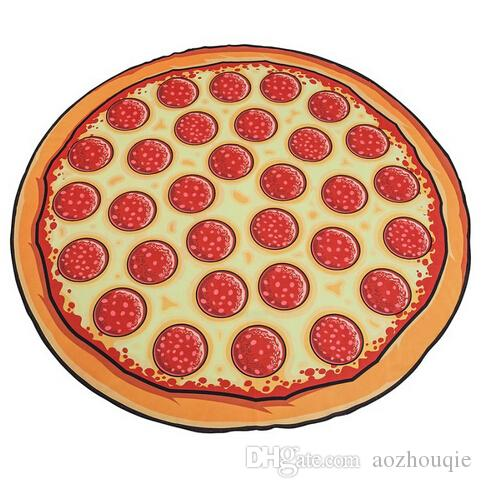 Wholesale New Hot Sale 150cm Diameter Round Beach Towel Pizza