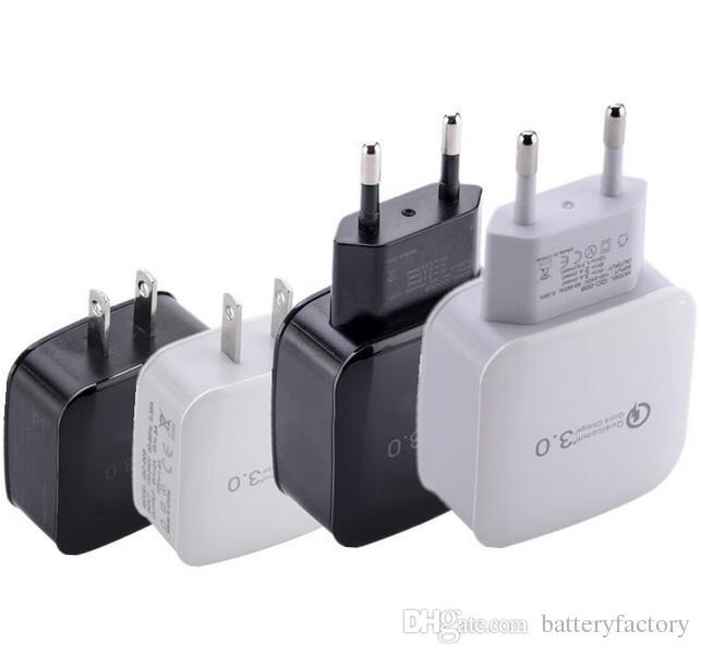 Quick Eu Us Ac caricatore da muro casa travel alimentatore 5V 3A 9V 2A 12V 1.7A Qc 3.0 alimentatore iphone 5 6 7 Samsung s6 s7 s8 plug pc
