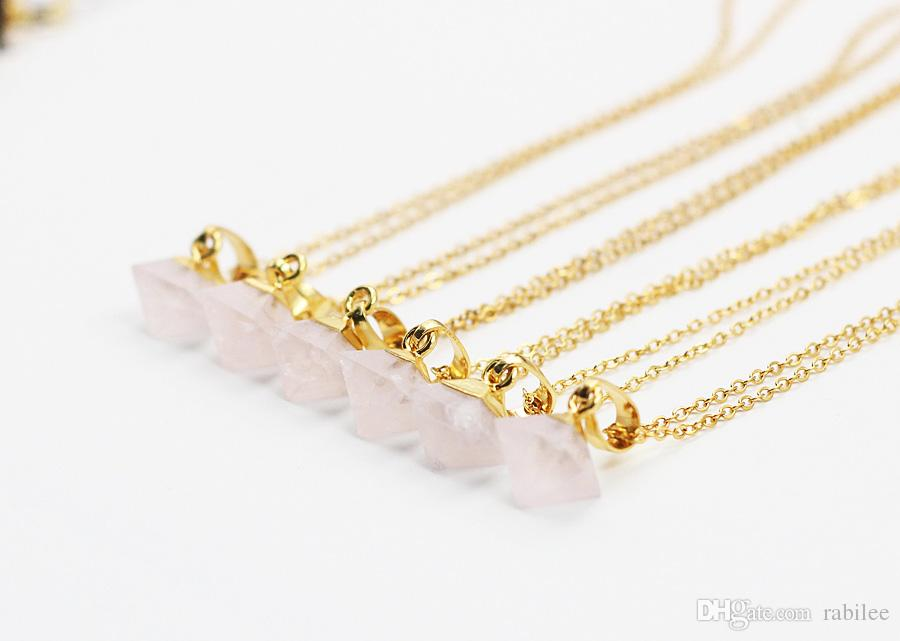 Wholesale tiny diamond pink quartz necklaces gemstone party birthday wholesale tiny diamond pink quartz necklaces gemstone party birthday jewelry good quality bridesmaid necklace jewelry 18k gold plated long pendant necklace mozeypictures Gallery