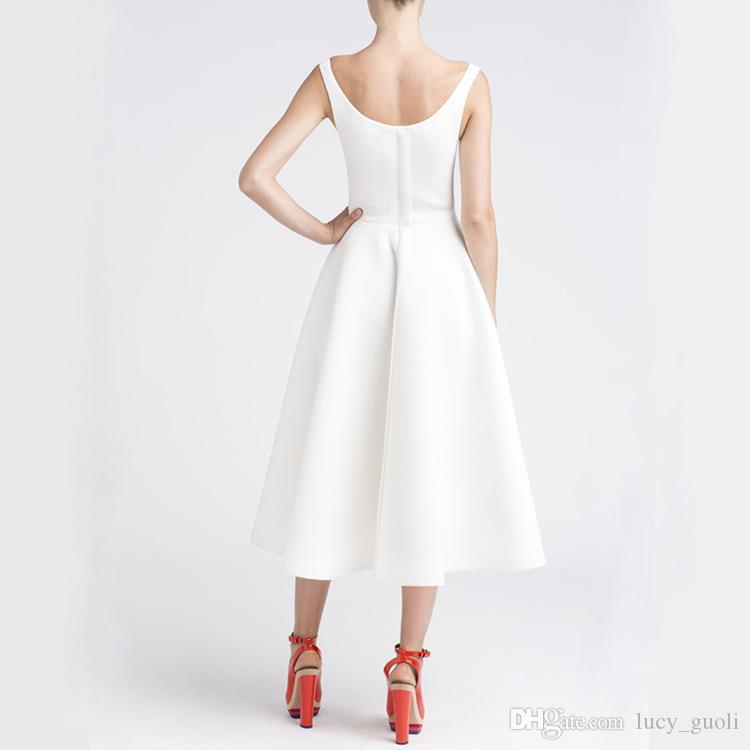 Hot 2016 Women Vintage A-Line Dress Office Lady One-piece Dress Female Vestido Ball Gown fashion OL temperament dress Sleeveless Black Retro