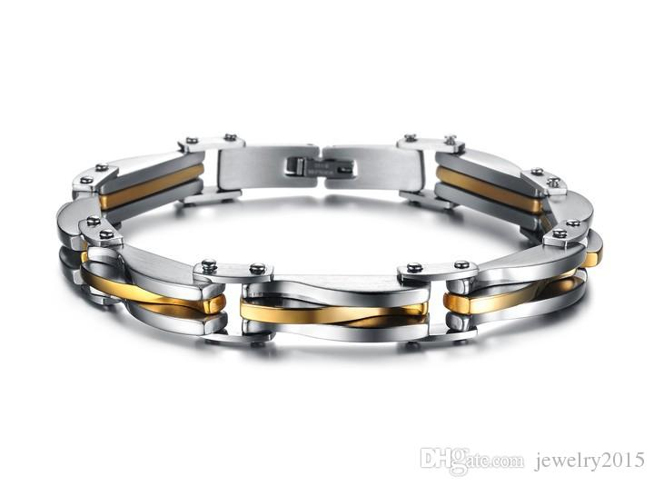 WPY JEWELRY HOT Sale Wholesale price new fashion accessories stainless steel bracelet delicate titanium bangles for cool men GS681