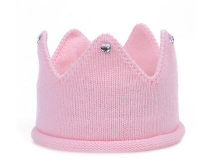 Baby Knit Crown Tiara Kids Infantil Crochet Diadema Sombrero Fiesta de Cumpleaños Fotografía Accesorios Beanie Bonnet Winter Keep warm